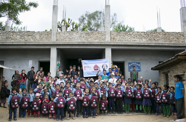 8205 School Bags Distributed